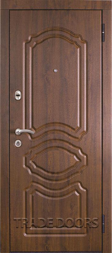 Дверь Т-19 дуб темный