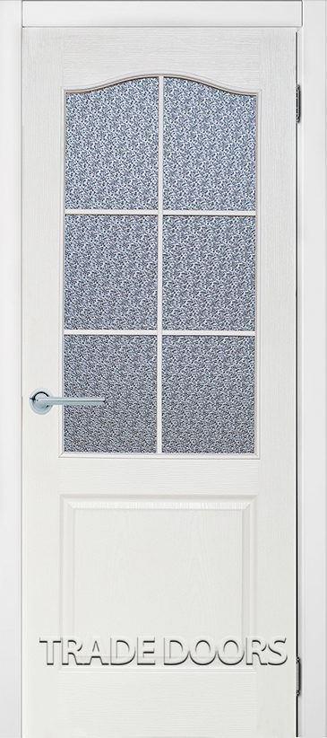 Дверь Классика ПО белый винорит